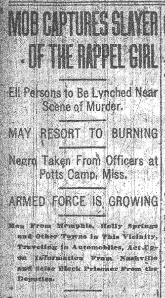 Headline, Memphis Commercial Appeal, May 22, 1917, p. 1.