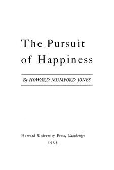 Cover image for The pursuit of happiness