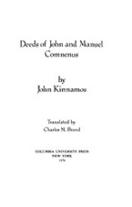 Cover image for Deeds of John and Manuel Comnenus