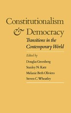 Cover image for Constitutionalism and democracy: transitions in the contemporary world : the American Council of Learned Societies comparative constitutionalism papers