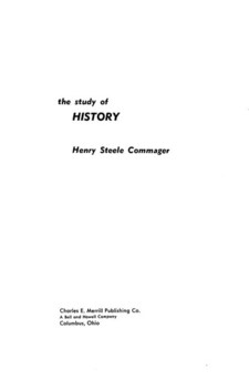Cover image for The study of history