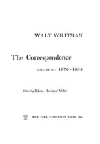 Cover image for The correspondence, Vol. 3