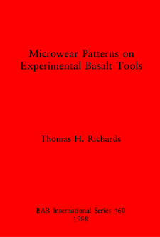 Cover image for Microwear Patterns on Experimental Basalt Tools