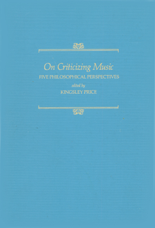 Cover image for On criticizing music: five philosophical perspectives