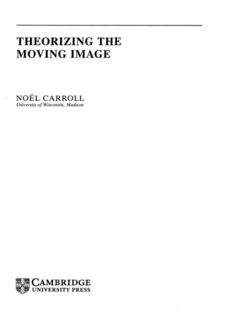 Cover image for Theorizing the moving image