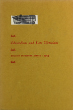 Cover image for Edwardians and late Victorians