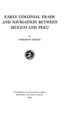 Cover image for Early colonial trade and navigation between Mexico and Peru