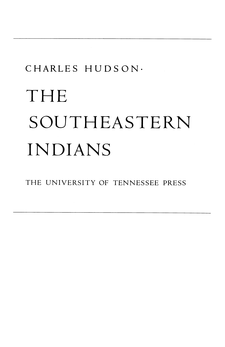 Cover image for The Southeastern Indians