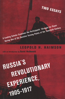 Cover image for Russia's revolutionary experience, 1905-1917: two essays