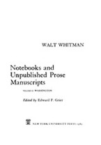 Cover image for Notebooks and unpublished prose manuscripts, Vol. 2