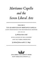 Cover image for Martianus Capella and the seven liberal arts, Vol. 1