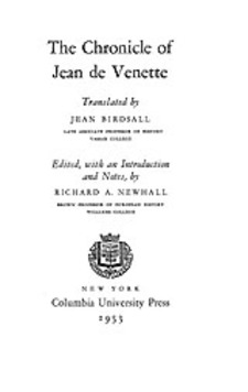 Cover image for The chronicle of Jean de Venette