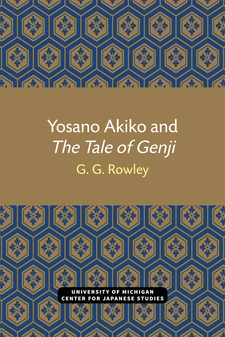 Cover image for Yosano Akiko and The Tale of Genji