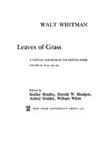 Cover image for Leaves of grass: a textual variorum of the printed poems, Vol. 3