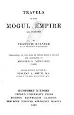 Cover image for Travels in the Mogul empire A.D. 1656-1668
