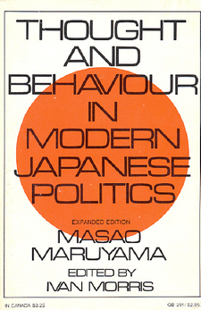 Cover image for Thought and behavior in modern Japanese politics