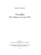 Cover image for Versailles: the château of Louis XIV