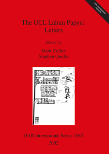 Cover image for The UCL Lahun Papyri: Letters