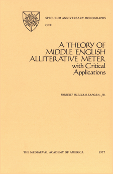 Cover image for A theory of Middle English alliterative meter: with critical applications