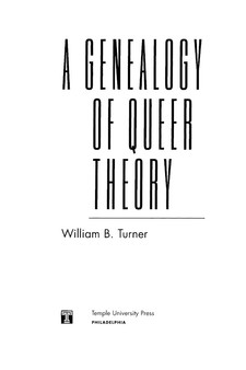 Cover image for A genealogy of queer theory