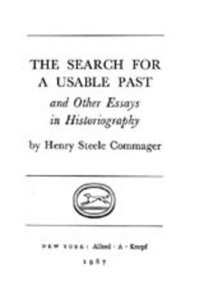 Cover for The search for a usable past, and other essays in historiography