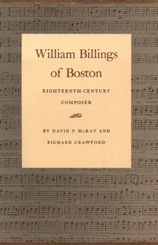 Cover image for William Billings of Boston: eighteenth-century composer