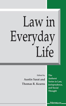 Cover for Law in Everyday Life