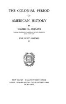 Cover image for The colonial period of American history, Vol. 2