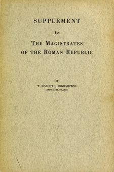 Cover image for The magistrates of the Roman Republic, Vol. 3