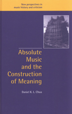 Cover image for Absolute music and the construction of meaning