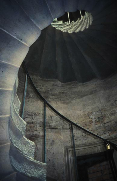 The duke's private spiral staircase.