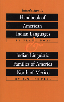 Cover image for Introduction to Handbook of American Indian Languages and Indian Linguistic Families of America North of Mexico