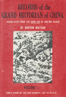 Cover image for Records of the grand historian of China, Vol. 1