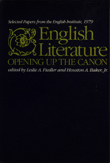 Cover image for English literature: opening up the canon