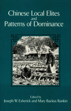 Cover image for Chinese local elites and patterns of dominance