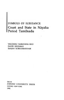 Cover image for Symbols of substance: court and state in Nāyaka period Tamilnadu