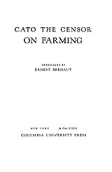 Cover image for Cato, the Censor, on farming