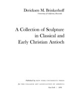 Cover image for A collection of sculpture in classical and early Christian Antioch