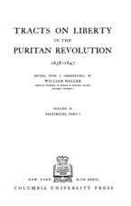 Cover image for Tracts on liberty in the Puritan Revolution, 1638-1647, Vol. 2