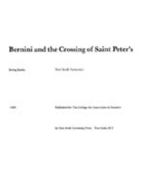Cover image for Bernini and the crossing of Saint Peter's