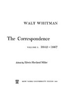 Cover image for The correspondence, Vol. 1