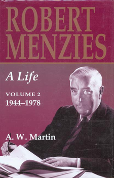 Cover image for Robert Menzies: a life, Vol. 2