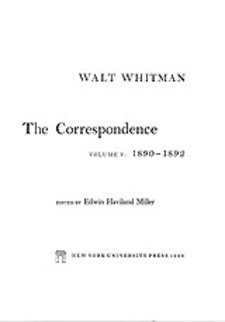 Cover image for The correspondence, Vol. 5