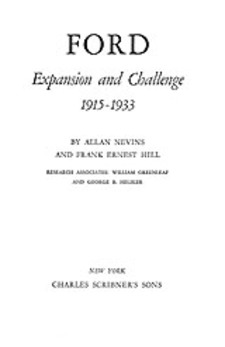 Cover image for Ford: Expansion and Challenge, 1915-1933