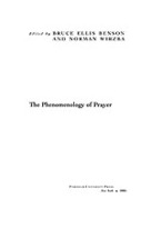 Cover image for The phenomenology of prayer