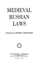 Cover image for Medieval Russian laws