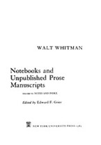 Cover image for Notebooks and unpublished prose manuscripts, Vol. 6