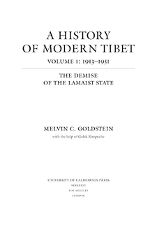 Cover image for A history of modern Tibet