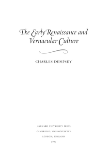 Cover image for The early Renaissance and vernacular culture