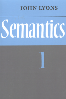 Cover image for Semantics, Vol. 1